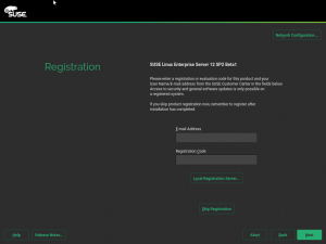 Old registration UI