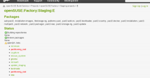 Storage-NG in the Staging Dashboard
