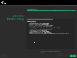 Select the Migration Target