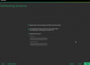 SUSE Manager setup - first screen