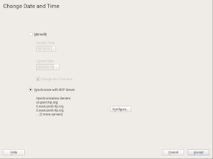 Timezone dialog in a running system